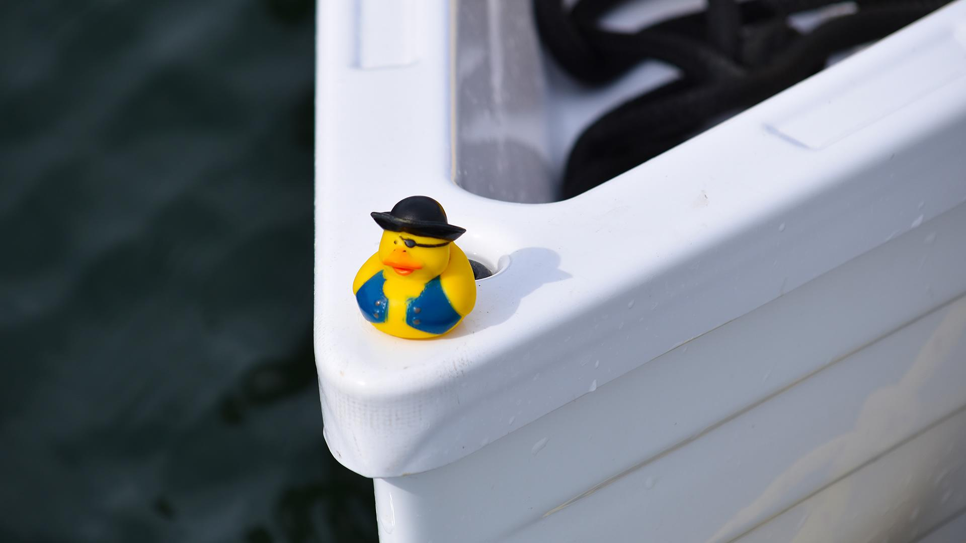 Rowboat-Whitehall-Rowing-Duck-Mascot-R2AK-Race-to-Alaska