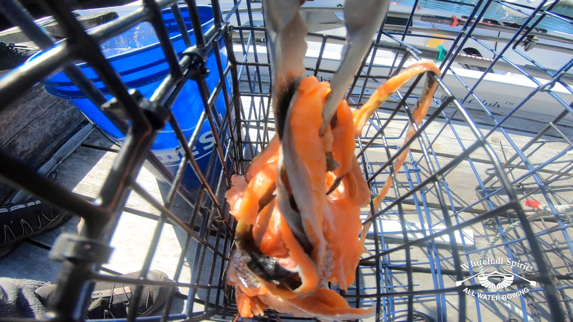 Crabbing in a Whitehall Spirit® Tango 17' Rowboat