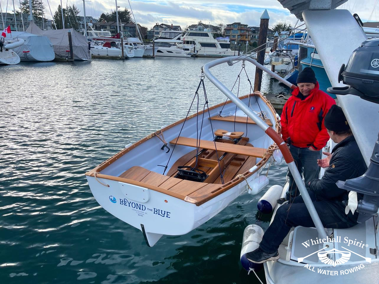 Beyond-the-Blue-boat-owner-David-with-Whitehall-Rowing-and-Sail-6L